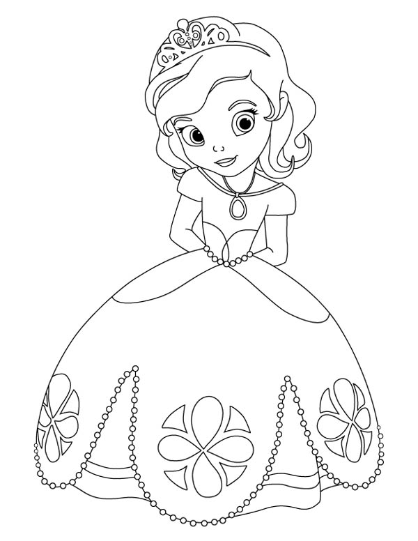 Princess Sophia - Free Colouring Pages