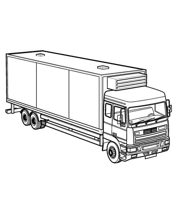 semi truck coloring pages free - photo#21