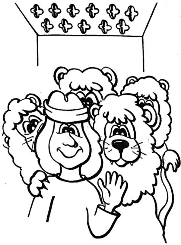 Daniel In The Lionsden - Free Colouring Pages