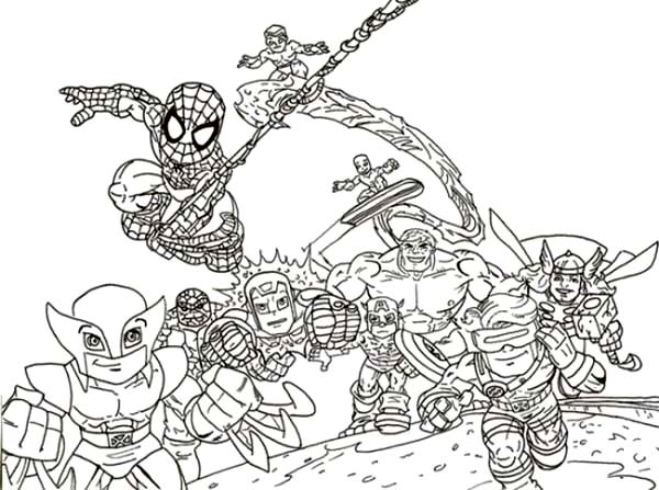 hero squad coloring pages - photo#25