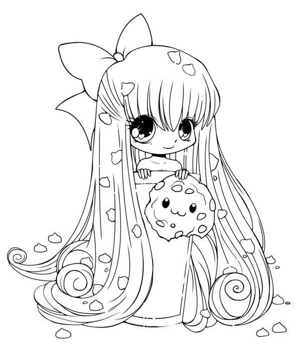 Cute Chibi Anime Coloring Pages Coloring Pages