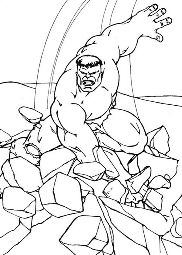 Download Avengers Coloring Pages Here Blackwidow: Hulk Smashing Floor Coloring Page