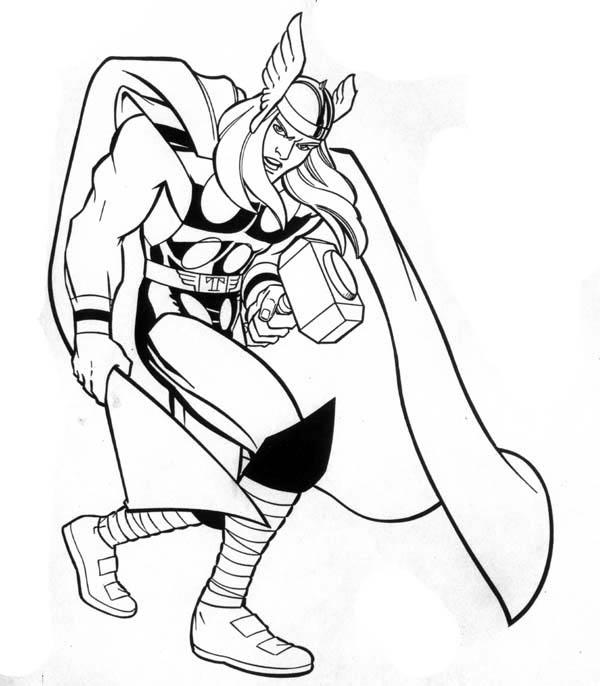 10000 Impresso √ Thor Para Pintar - Imagens para colorir ...