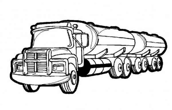 Tanker Truck Pages Coloring Pages