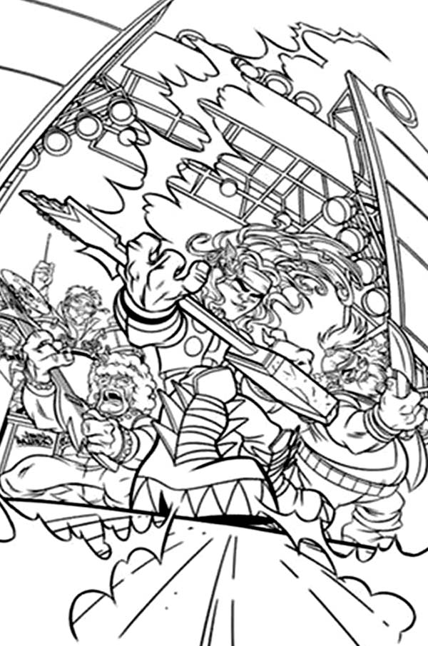 Super Hero Squad The Avengers Coloring Page - NetArt
