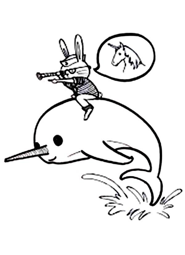 Narwhal Coloring Pages Print