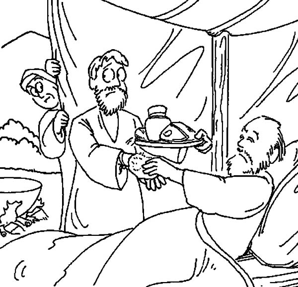 Jacob And Esau Printable Coloring Pages 3