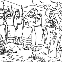 Jacob And Esau Reunite Coloring Page Coloring Pages