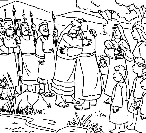 Jacob And Esau Meet Again Coloring Pages Coloring Pages