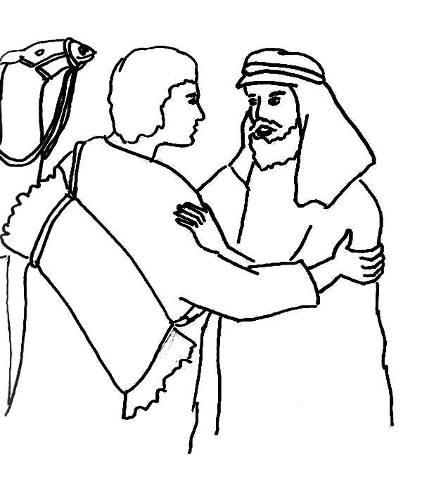 Jacob and Esau Reunion Coloring Page reunite - NetArt