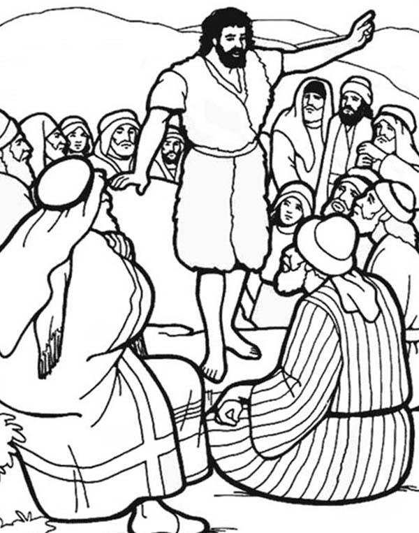 John the Baptist Coloring Page - NetArt