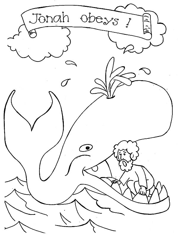 Jonah and the Whale Picture Coloring Page - NetArt