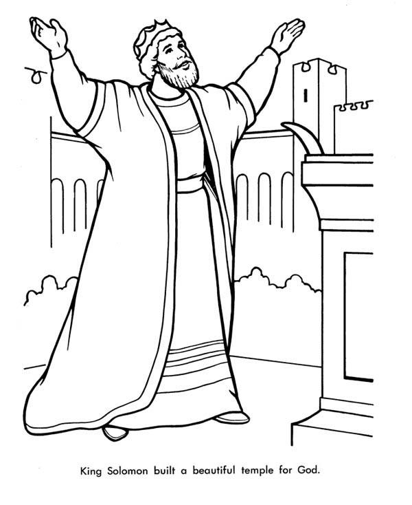 It's just a photo of Stupendous solomon's temple coloring page