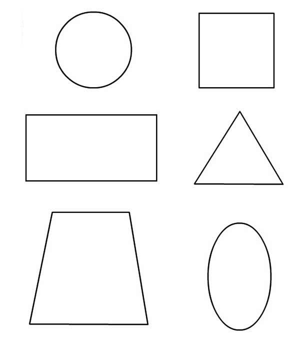 Learn to Draw Basic Shapes Coloring Page - NetArt