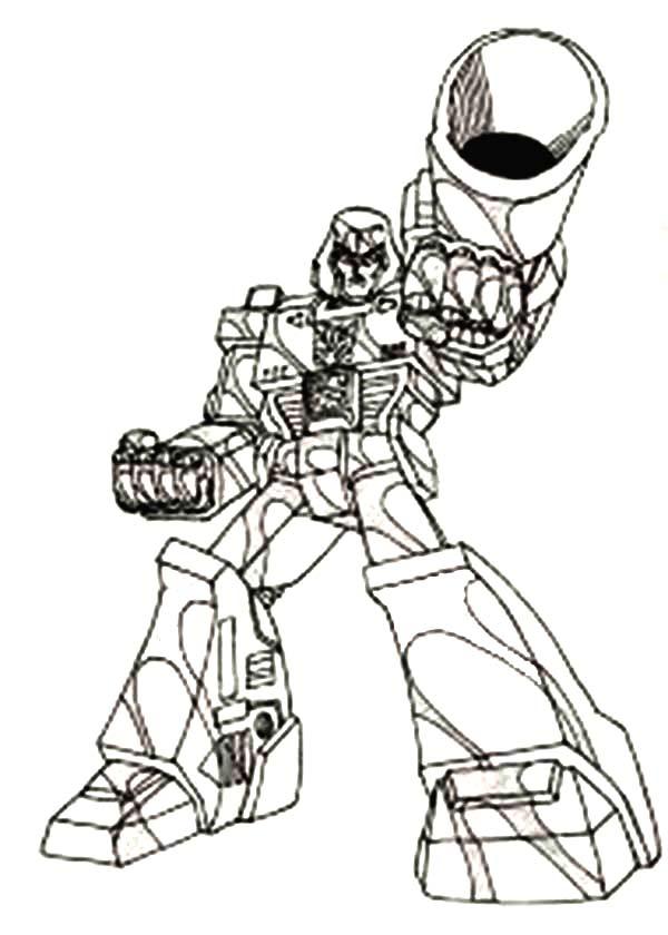 Megatron With Big Bazooka Coloring Page Netart