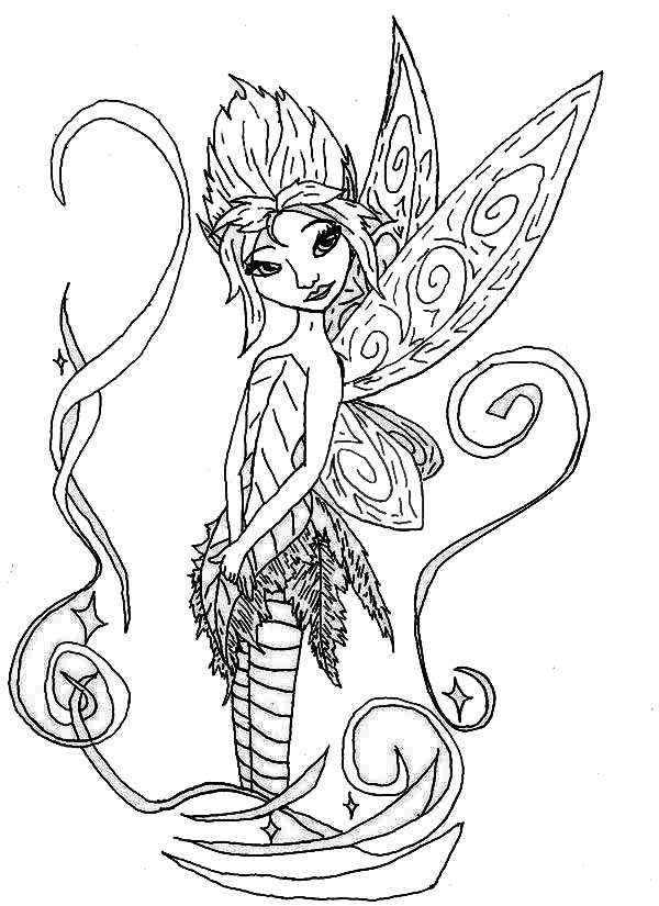 pixie hollow fira coloring pages | Pixie Hollow Fairies Coloring Page - NetArt