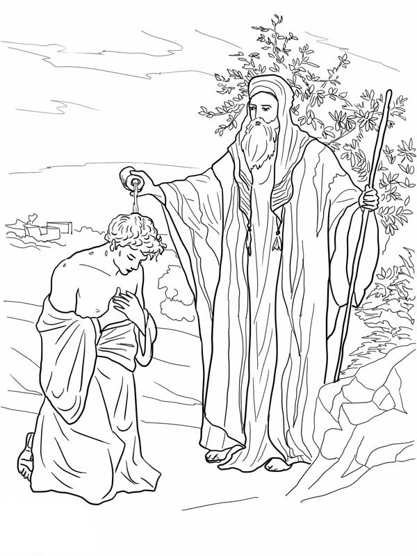 Samuel Anoiting Saul as King in