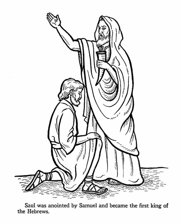 King saul coloring pages for kids ~ The First Kig Hebrew is King Saul Coloring Page - NetArt