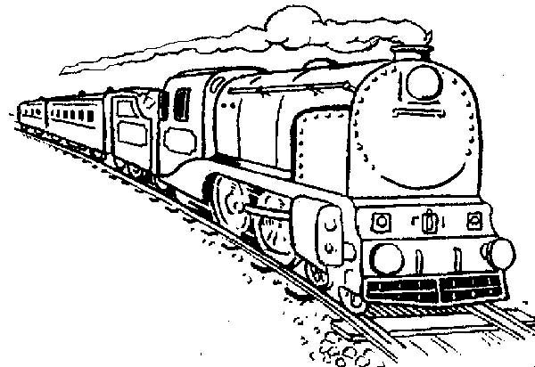 Long Steam Train Coloring Page - NetArt