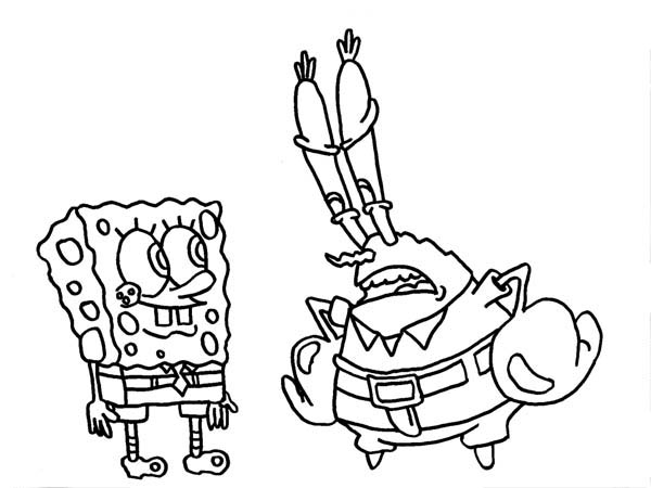 This is a photo of Accomplished Mr Krabs Coloring Page