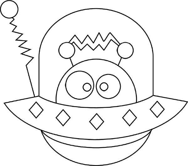 Alien Hide In Eship Coloring Page Netart