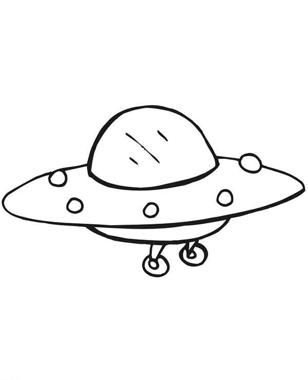Alien Spaceship Coloring Page - NetArt