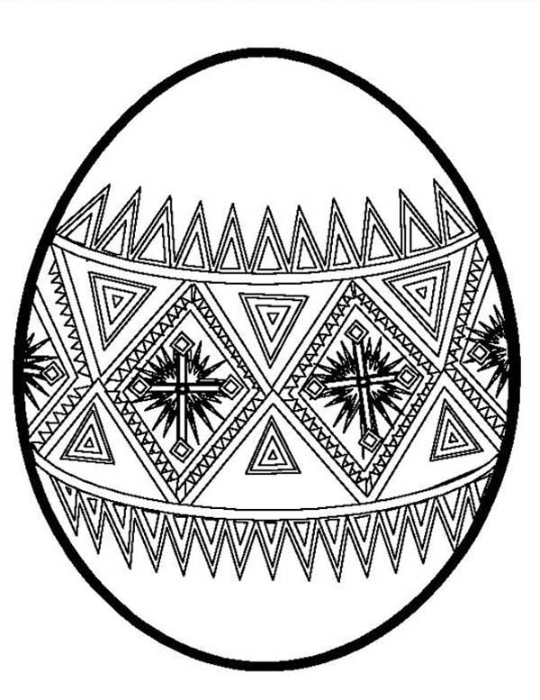 Beautiful Easter Egg Coloring Page - NetArt