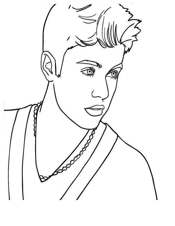 Canadian Pop Singer Justin Bieber Coloring Page Netart