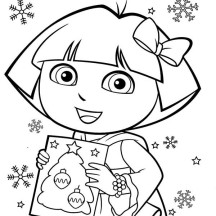 Dora The Explorer Coloring Pages Christmas | Coloring Pages