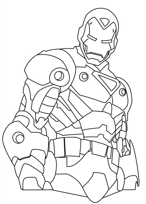 How to Draw Iron Man Coloring Page - NetArt