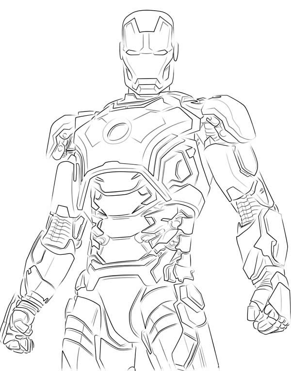 ironman hulk buster  free colouring pages