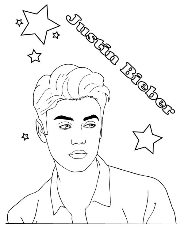 justin bieber boyfriend coloring pages | Justin Bieber Boyfriend Coloring Page - NetArt