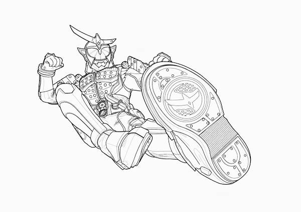 Kamen Rider Kick Attack Coloring