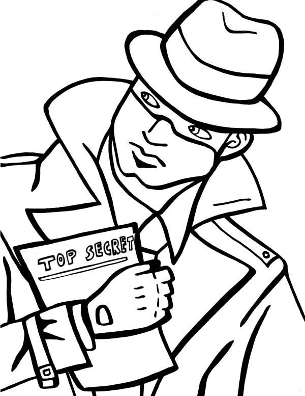 It is a picture of Gutsy Spy Coloring Pages