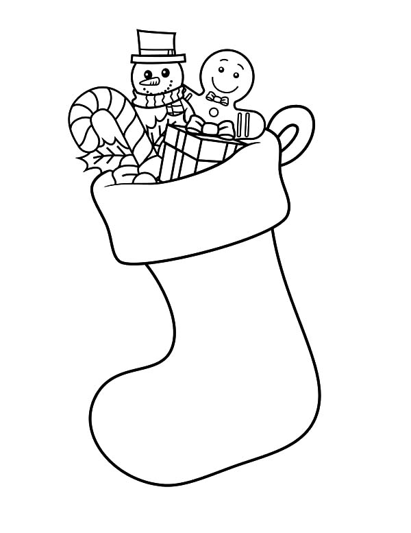 How to Draw Christmas Stockings Coloring Pages - NetArt