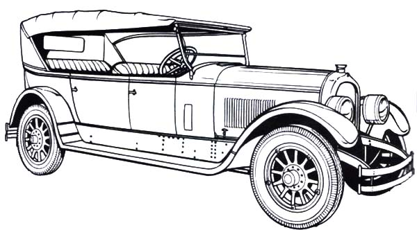 old fashioned cars coloring pages - photo#8