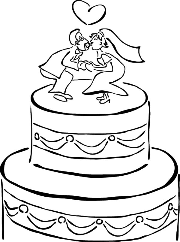 wedding cake pictures to colour in chocolate cake netart 23444