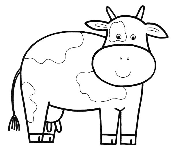 dairy farm coloring pages | Dairy Cow Pages Realistic Coloring Pages
