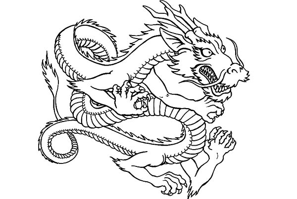 Dragon City Coloring Pages Sketch Coloring Page: Drawing Chinese Dragon Coloring Pages