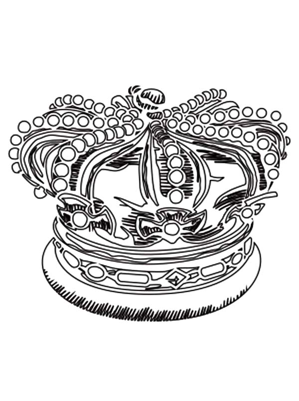 Precious Royal Crown Coloring Pages - NetArt